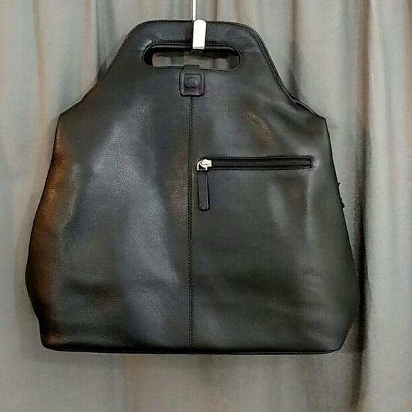 Delsey Paris Handbags - Delsey Paris Leather Carry On Travel Handbag